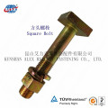 Square Head Bolts with Nut and Washer for Rail Fastening System